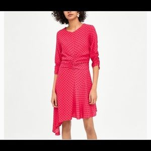 New Zara polka dot dress